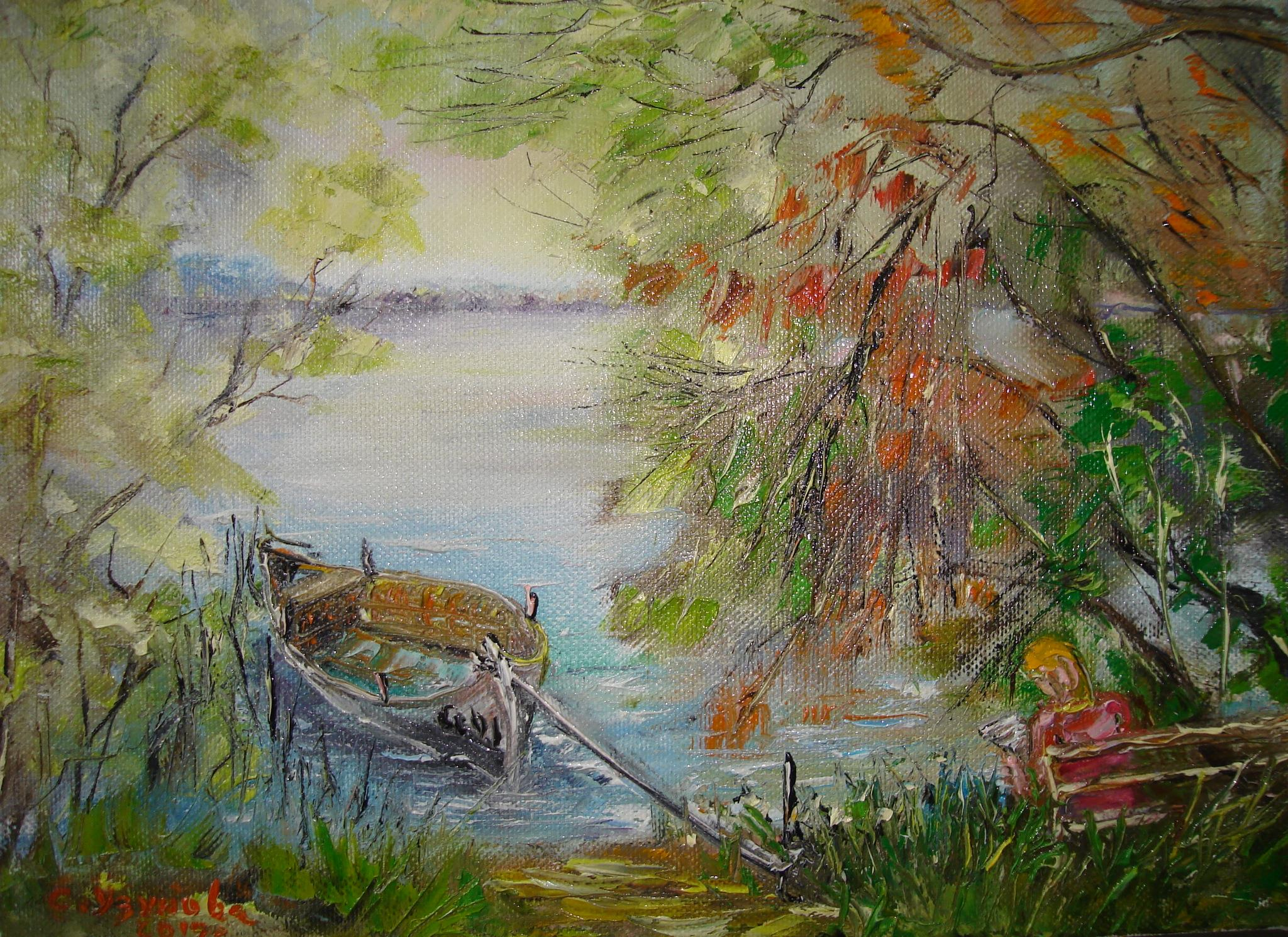 Дунавска романтика (2017). Маслени бои върху платно. Размери 27/22 см (налична)