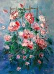 Розов храст (2019). Маслени бои върху платно. Размери 40/30 см   (налична)