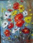 Полски цветя (2019). Маслени бои върху платно. Размери 20 /15см   (не е в наличност)