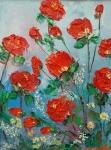 Градински рози (2019). Маслени бои върху платно. Размери 20 /15см   (налична)